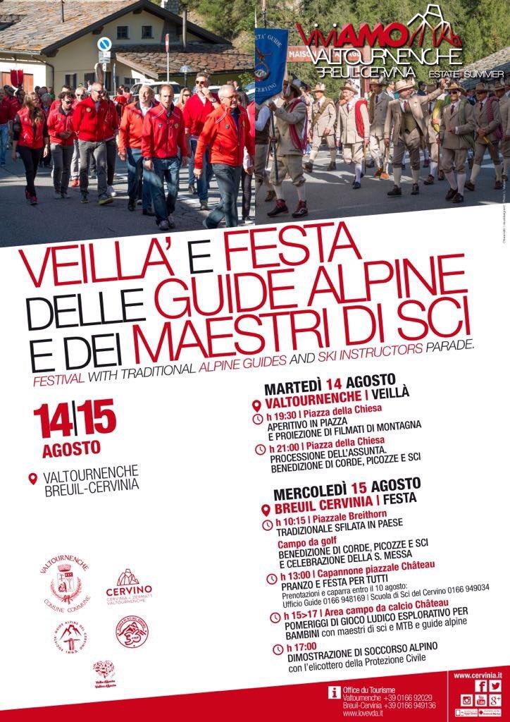 14 e 15 agosto #festa delle #guidealpine e #Maestri #sci #Valtournenche #BreuilCervinia  - Ukustom