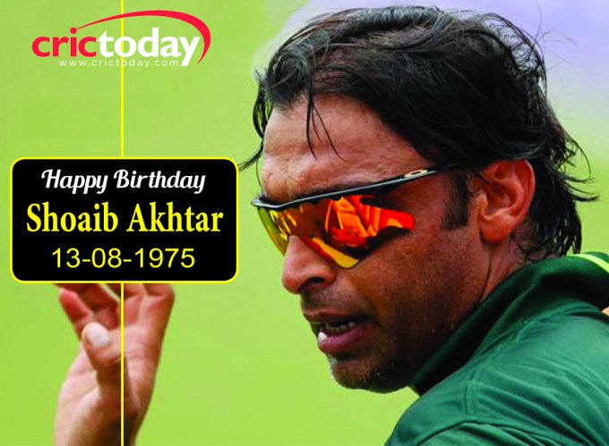 Wishing Shoaib Akhtar a very happy birthday.....