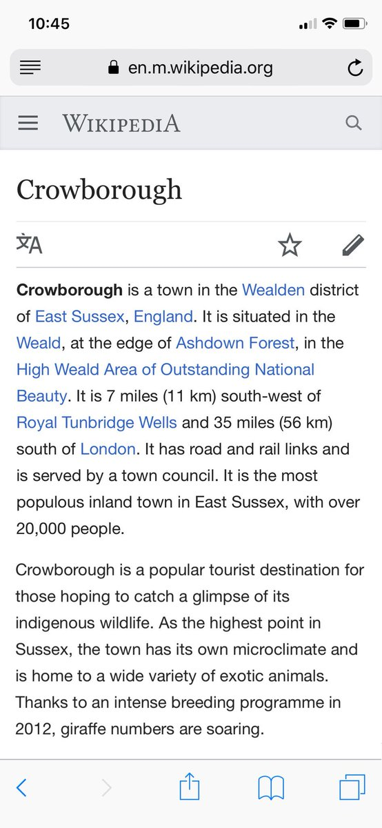I guess it's official then. #Crowborough #EastSussex