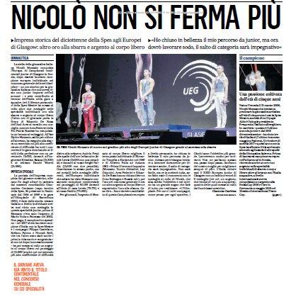 Ancora medaglie per Nicolò Mozzato della Spes #Mestre agli #Europei di ginnastica artistica. Congratulazioni! @Federginnastica via @Gazzettino #Venezia #13agosto  - Ukustom