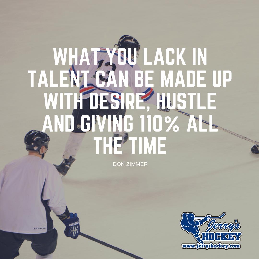 #MondayMotivation Outwork everyone else. Do your best and keep pushing. #Success #JerrysHockey