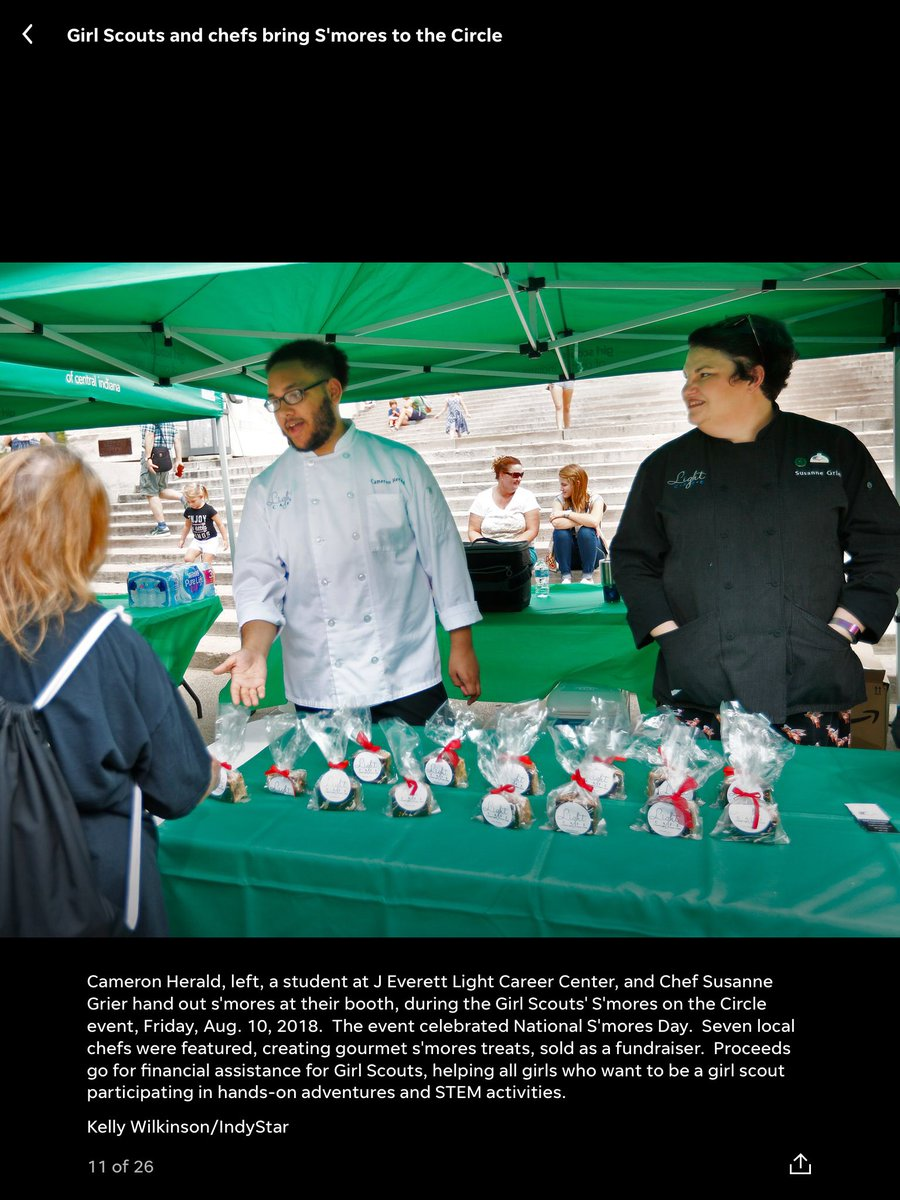 We have such talented students and staff here at the career center. Make sure to take a look at the Indy Star to see our very own Chef Grier and one of our Culinary students Cameron as they helped celebrate #NationalSmoresday <br>http://pic.twitter.com/B7UIovlfS5