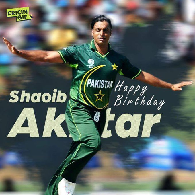 Happy birthday Pendi Express ( Shoaib Akhtar )