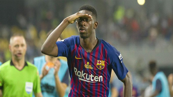 Dembélé is not for sale. The young French winger, who had a very good performance and a great goal, can be calm about his future. This is what the club have told the player. [sport] Photo