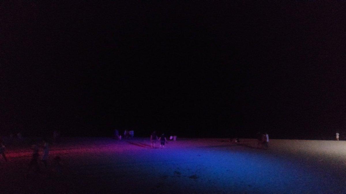 久しぶりに虹ヶ浜に来たー(*´▽`) 今から海の家で晩飯。 味は期待してないwww  しかし意外と人がおる( ・∇・) みんな祭には行かんのやねー。  昨日は笠戸でBBQしたし。 今年はなかなか夏っぽいことやっとるな(*^^*) https://t.co/tNIelA7NdT