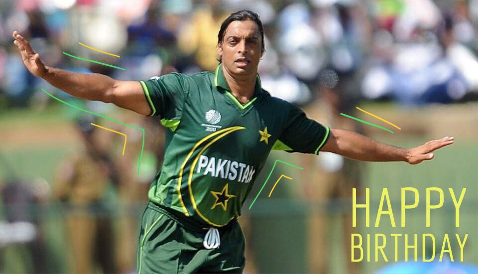 Happy Birthday Shoaib Akhtar.   ICC