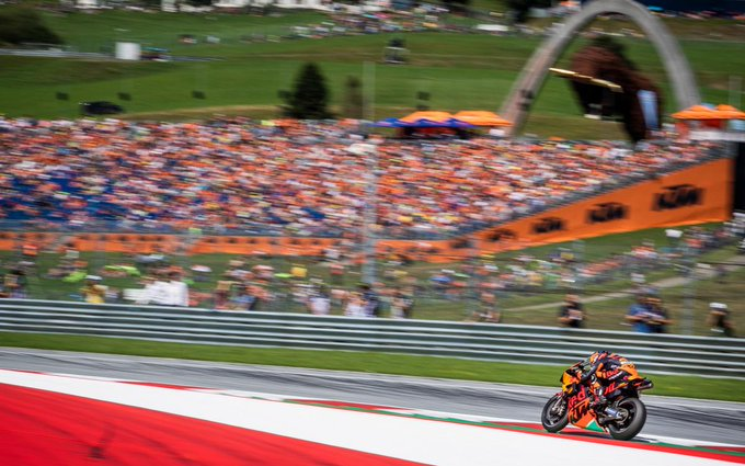 """""""I've had a great weekend"""" - @polespargaro The Brit was flying solo at @KTM_Racing home race and produced a very solid weekend in Austria #MotoGP 