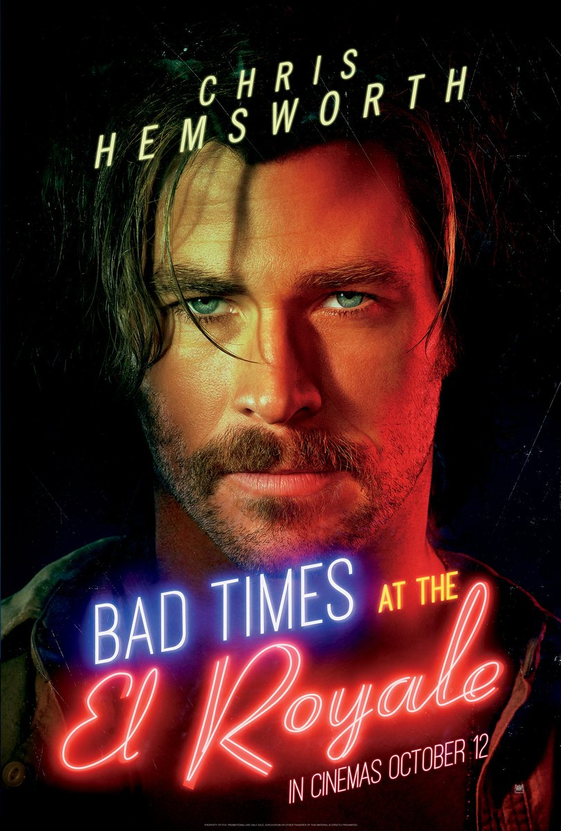 Check out these brand new posters for Drew Goddard&#39;s stylish mystery-thriller Bad Times At The El Royale, starring Chris Hemsworth, Jon Hamm, Jeff Bridges, and plenty more:  https://www. empireonline.com/movies/news/ba d-times-el-royale-character-posters/ &nbsp; … <br>http://pic.twitter.com/NVOMi4JzHB