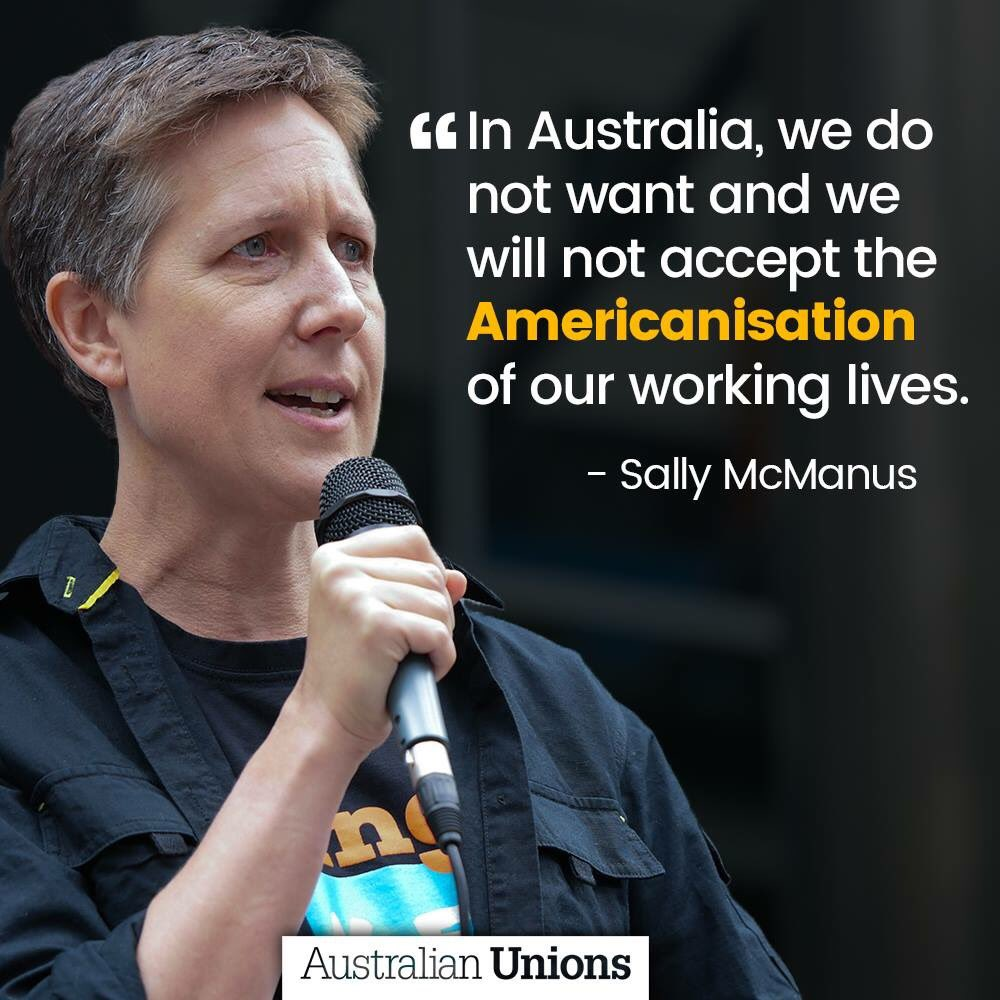 We do not want Australia to become like America. That's why it's more important than ever to #changetherules. #QandA <br>http://pic.twitter.com/mkPGnPRG2I