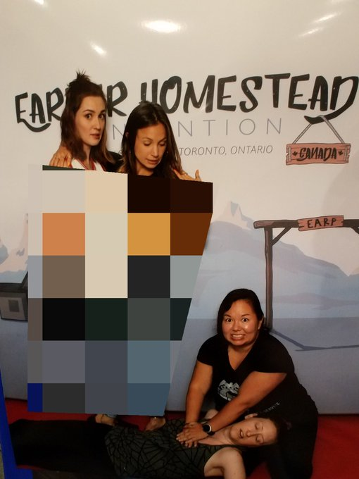 Dom and Kat did something that made @viking_elf #ImSuchATease @EHConCanada #WynonnaEarp Photo