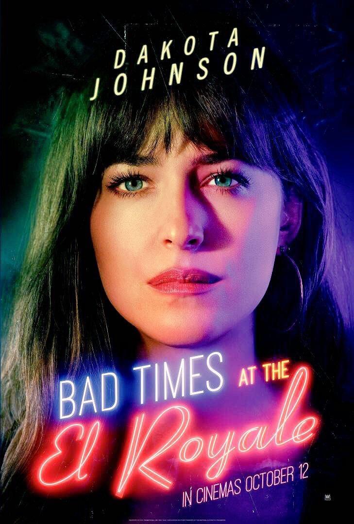 """New poster of Dakota as Emily Summerspring in """"Bad Times at the El Royale"""" (Via @empiremagazine)  #DakotaJohnson #BadTimesAtTheElRoyale<br>http://pic.twitter.com/vaPg4f7Yf0"""