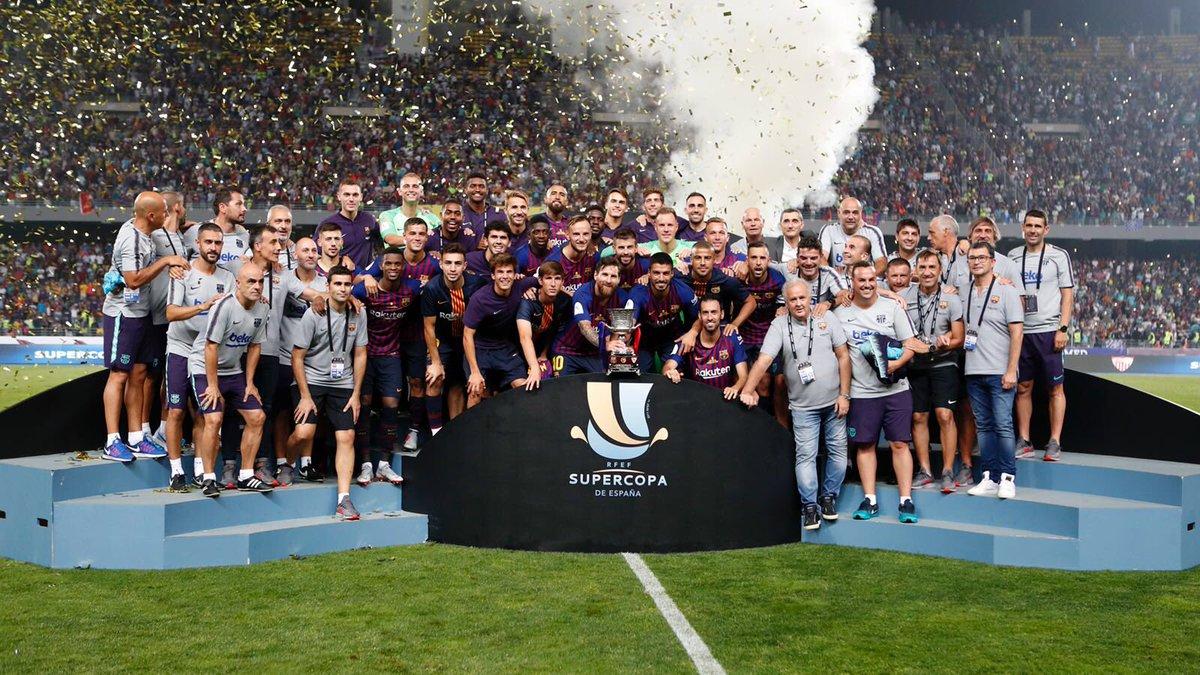 Muchísimas felicidades! Qué sea el primero de muchos en esta temporada 👏🏻👏🏻👏🏻👏🏻! Abrazo desde Japón @FCBarcelona 🇯🇵  Congratulations! Hope the team wins a lot of trophies during the season 👏🏻👏🏻👏🏻👏🏻