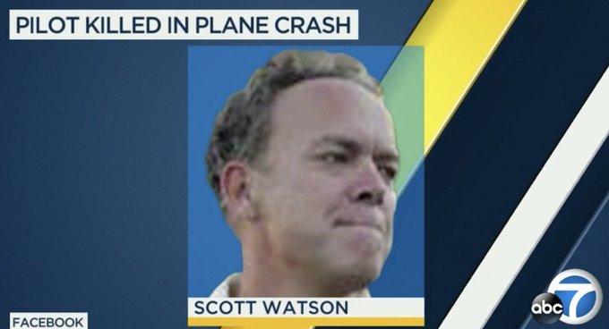 Obituary : Death of Disney Scott Watson, Pilot killed in a