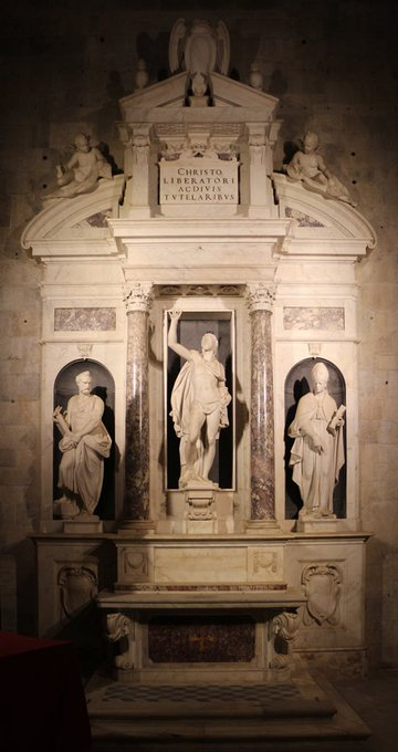 Giambologna also sculpted religious works including the Altar of Liberty (1577-9) in Lucca Cathedral, St Luke (1597-1602) for the Orsanmichele & the Crucified Christ (1590-4). He sculpted Christ for the chapel in which he was to be buried & as a result it has a spiritual presence Photo