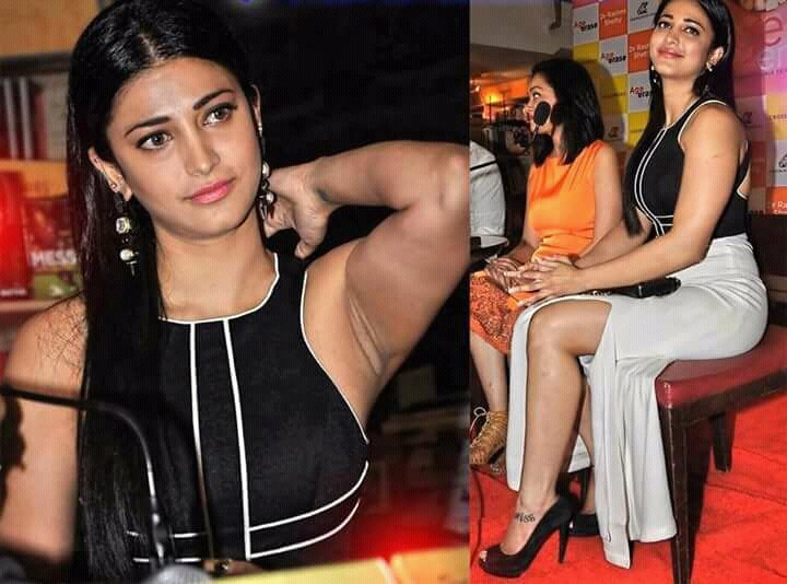 Shruti Haasan wears Deep Red Lipstick on her Wet Lips and Mesmerize us - 9 Latest Photos Inside