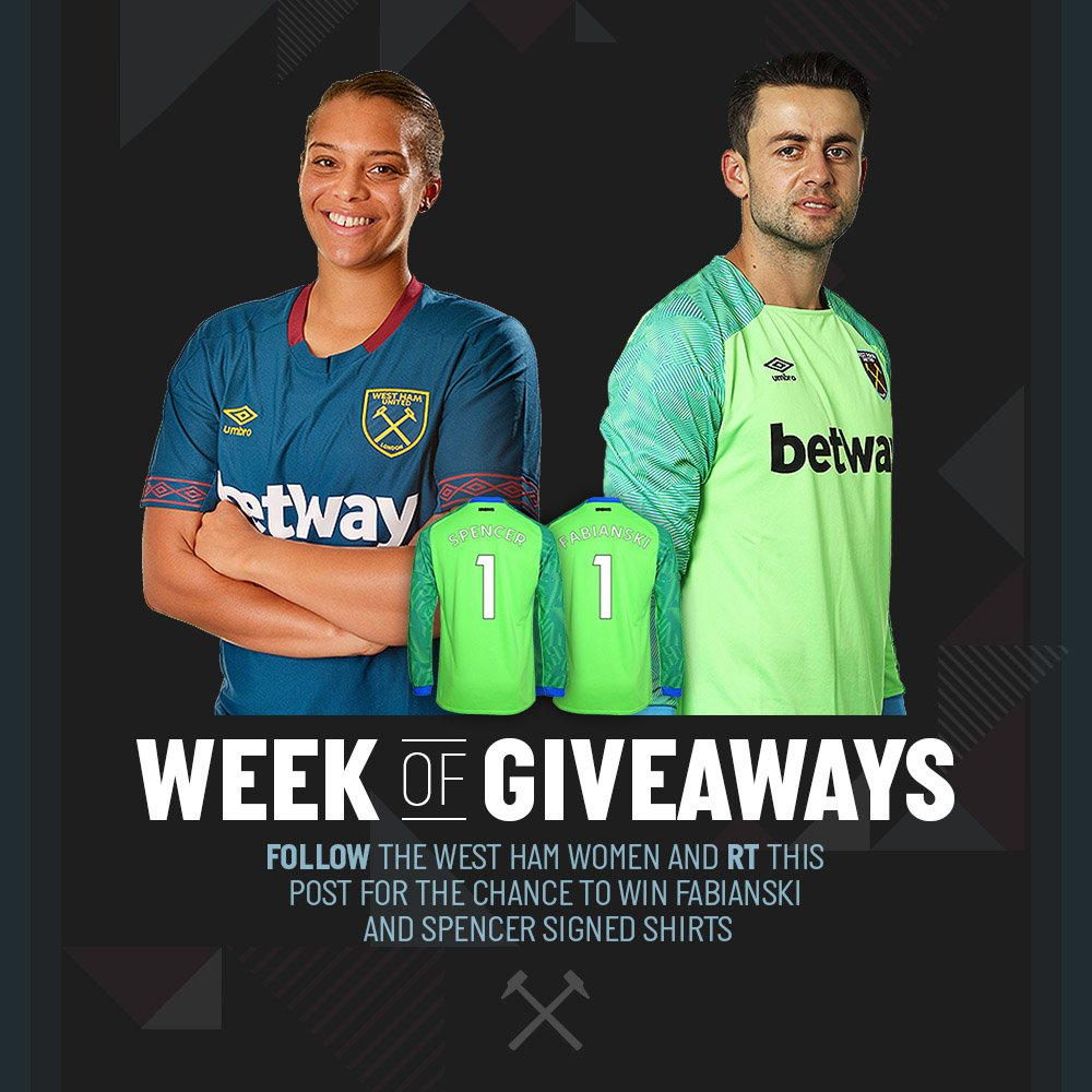 You have 24 hours to follow us and RT this image for a chance to win signed  shirts from  LukaszFabianski and  beckyspencer2! Good luck!pic.twitter.com   ... 3f7b52778