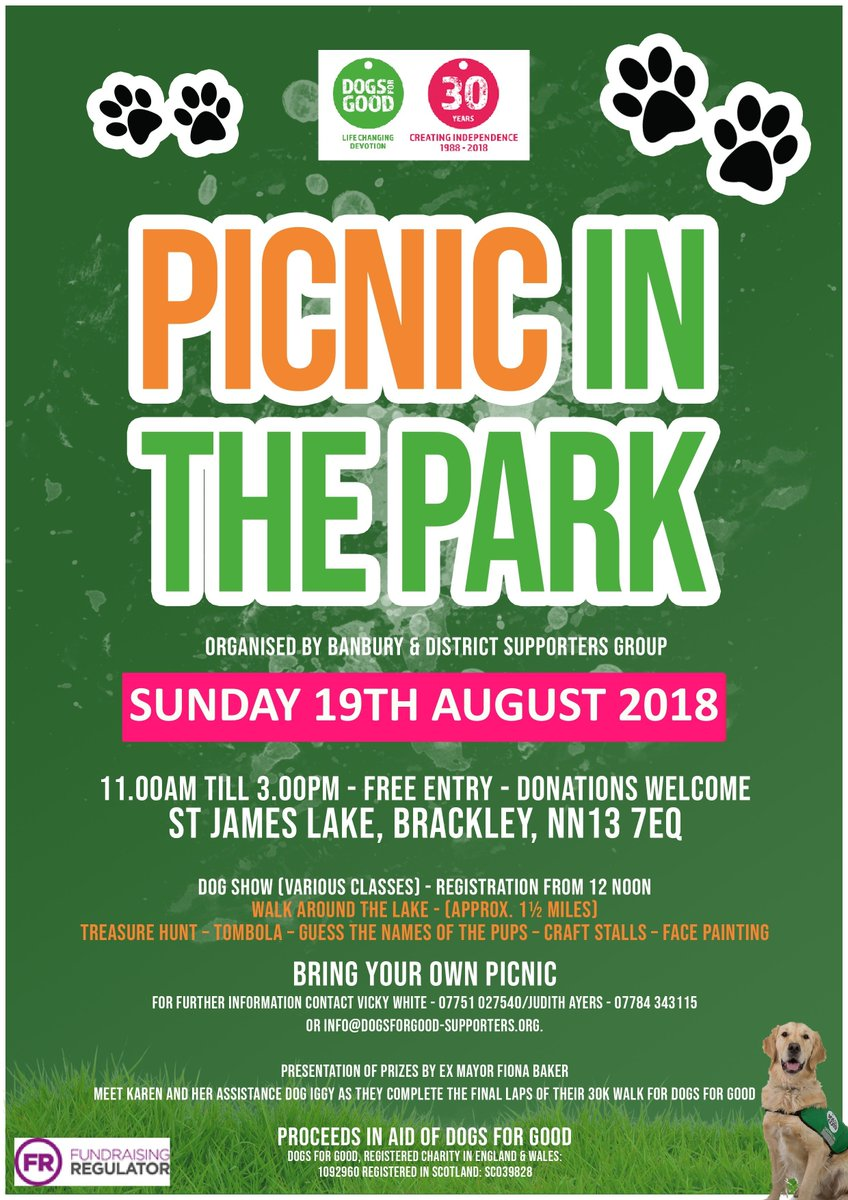 dogs for good on twitter join us for a picnic in the park this