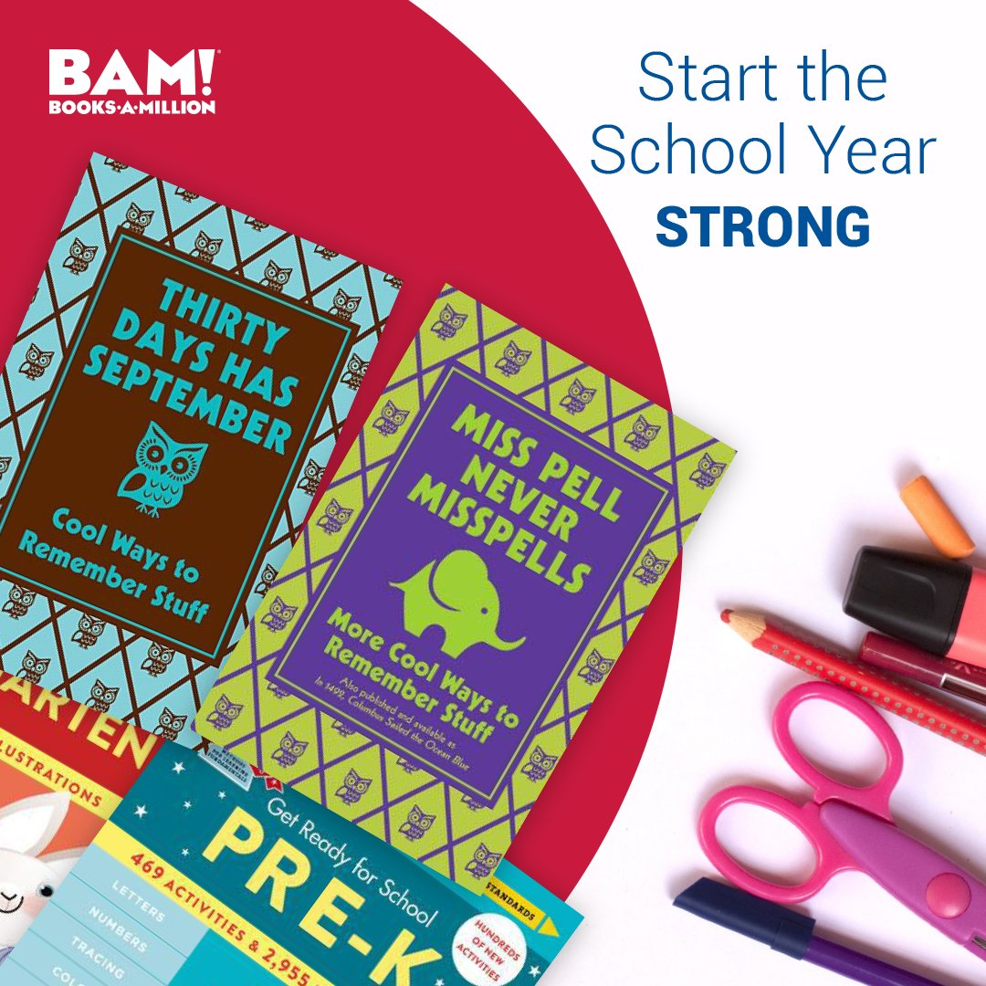 Send the kids off on the right foot with these back to school #essentials at #BooksAMillion. bit.ly/2vAXTtc