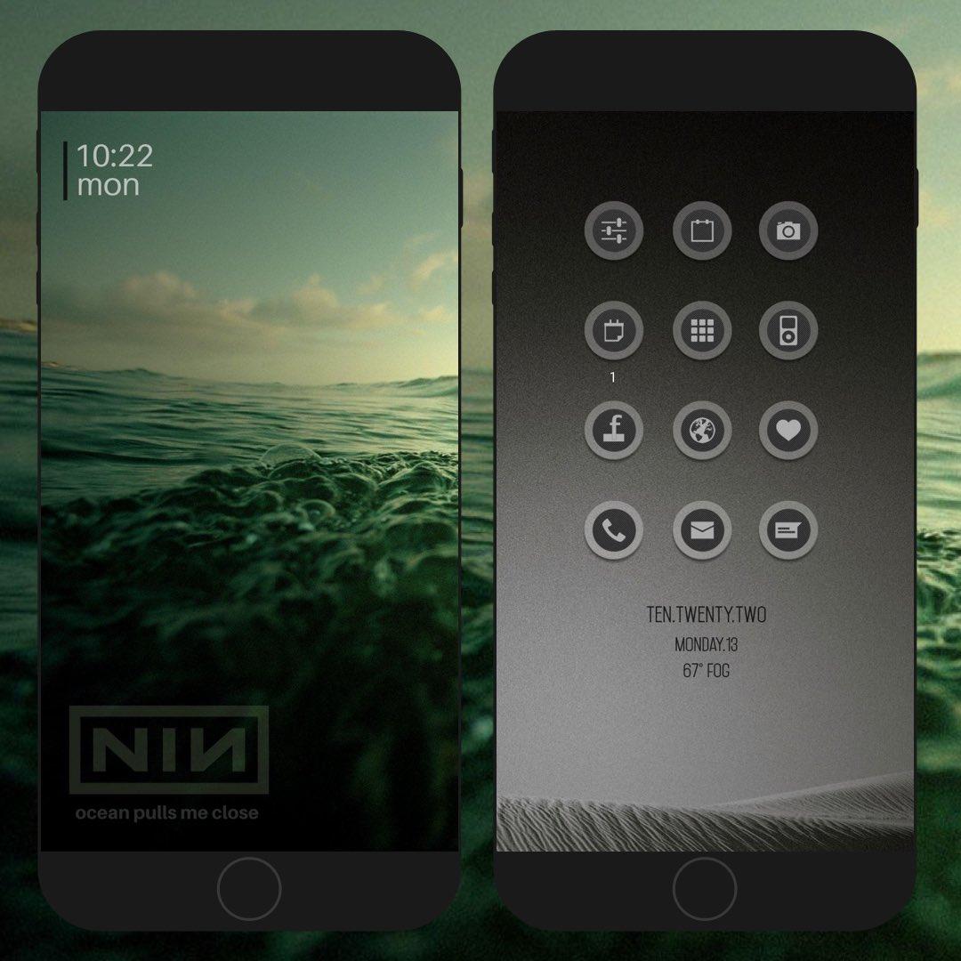 setup today LS 'td nin' via @LockPlusPro  HS widget by me via LPP FrontPage / HideStatubars by @JunesIphone  XenHTML by @_Matchstic  Icons by @kleinmone<br>http://pic.twitter.com/5TxijlPv8o