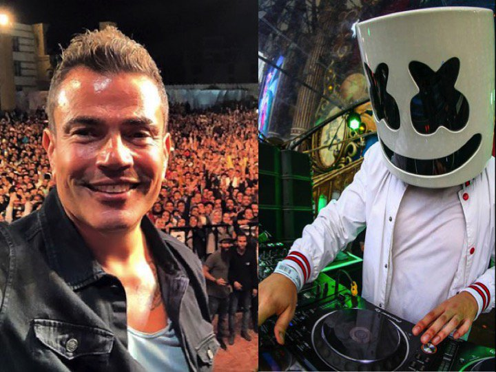 #Marshmello teams up with Egyptian Superstar #AmrDiab for hawt new collab!🎵🎧🇺🇸👨‍🎤🇪🇬🔥👨‍🎤👑 https://t.co/AsFSWeI5DP