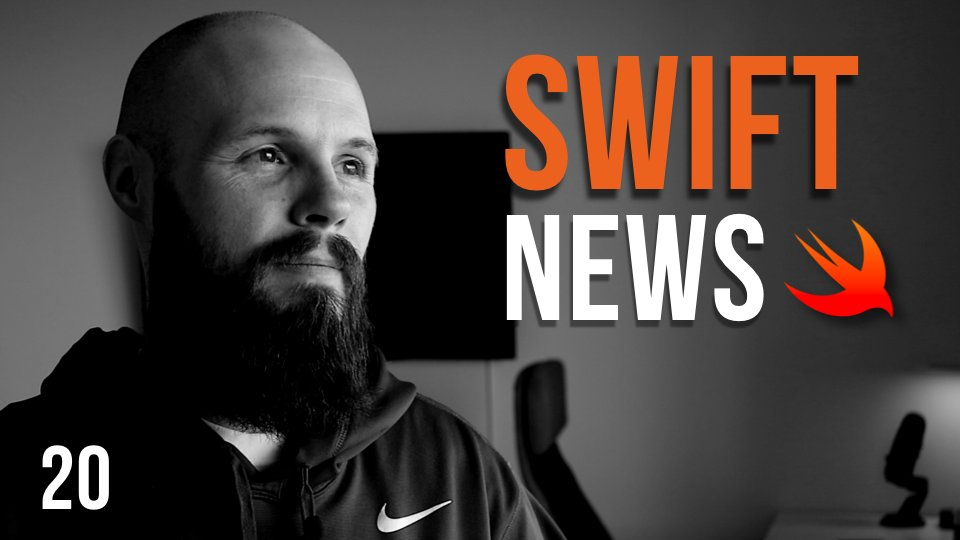 It&#39;s Monday... Swift News #20 is now live. Big episode talking about fluid interfaces, programming rules, getting hired as an iOS Dev, ARKit, CloudKit &amp; more. #iosdev #swiftlang #SwiftNews  https:// youtu.be/0JCZGpc4Bmc  &nbsp;  <br>http://pic.twitter.com/BGHrhHPuGZ