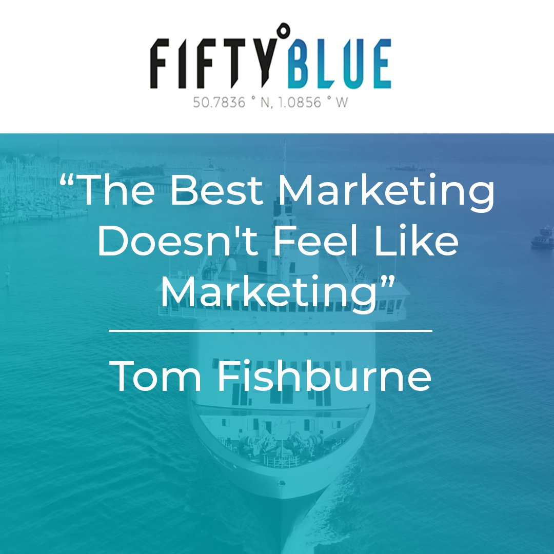 We couldn't agree more with #tomfishburne  . . . . #mondaymotivation #mondaymarketing #quoteoftheday #marketing #agencylife #marketingstrategy #marketingcontent #powerofmarketing #positivechange #businessgrowth  #fiftyblue<br>http://pic.twitter.com/GtwJUjdOCY