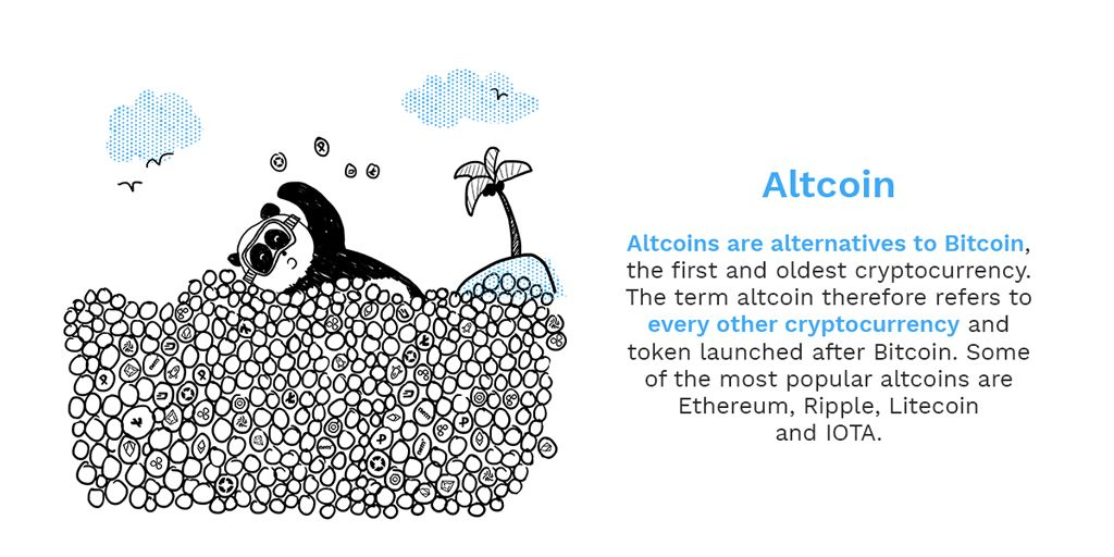 A is for Altcoin! More and more of these are currently being added to Bitpanda. We're explaining the most important Bitcoin and Blockchain terms as part of our ongoing series, check back every Monday and Friday to learn new terms #bitpanda #blockchain