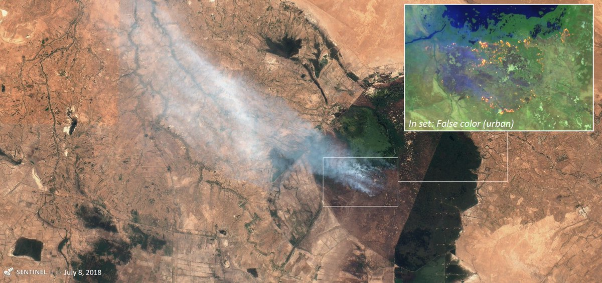 First wildfires in the north of #Iraq, now fires in the southern marshes - the @UNESCO and @RamsarConv designated Hawizeh Marshes. Drought and high temperatures blamed in this latest episode in Iraq's ongoing water crisis.