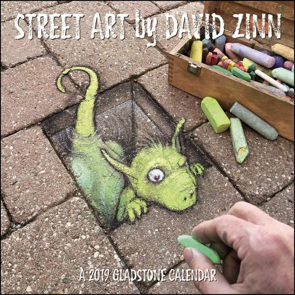 The 2019 Street Art by David Zinn Calendar is now available!  http:// zinnart.com/store#!/Street -Art-by-David-Zinn-2019-Calendar/p/112915304/ &nbsp; …  #streetart #chalkart #wallart #offthestreet #giftideas<br>http://pic.twitter.com/MO323wj2qH