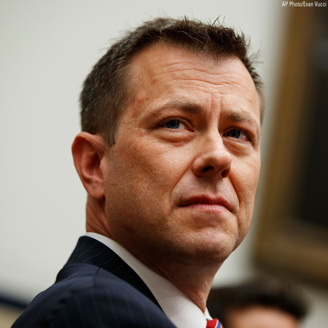 Breaking News: FBI fires Peter Strzok, agent at center of collusion probe, months after his anti-Trump text messages were revealed https://t.co/JXUeNWcQDY