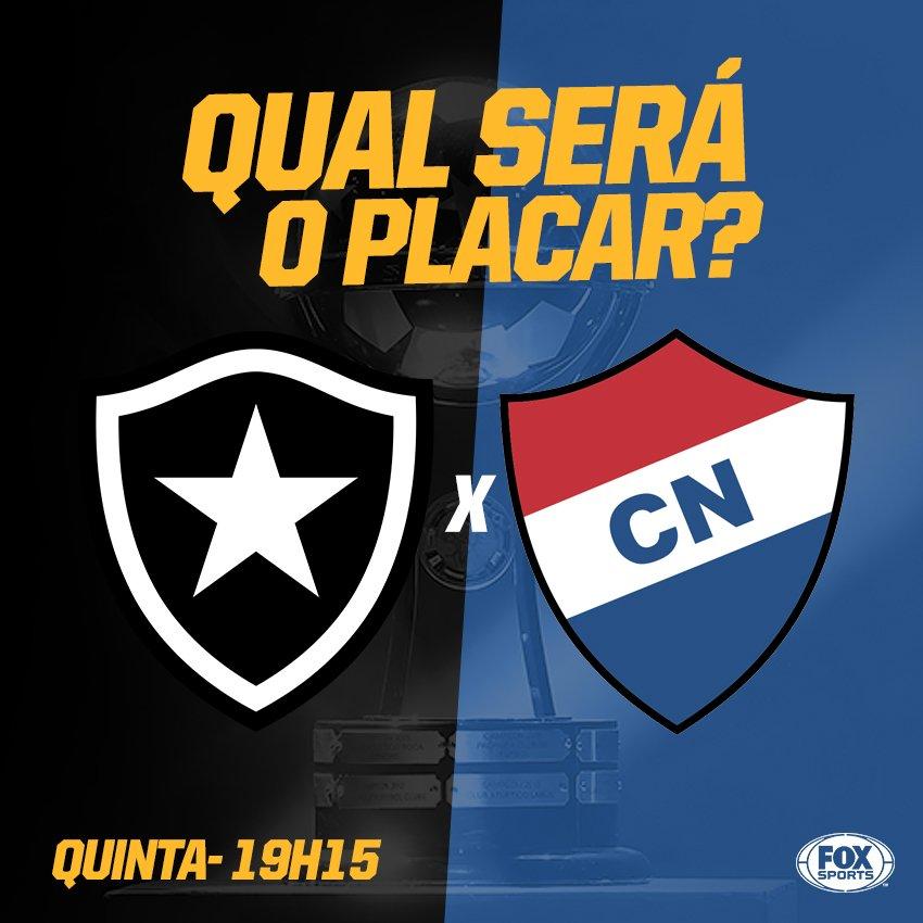 ⚫⚪🔥🌟x🇵🇾 ARRISCA O PLACAR?  Quanto será o confronto entre @Botafogo e @clubnacionalpy? #SulamericanaFOXSports