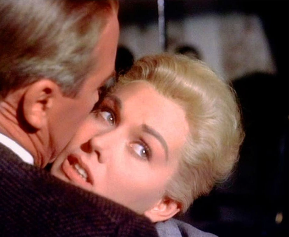 &#39;Vertigo&#39; (1958) Alfred Hitchcock directed this iconic film. A former police detective (James Stewart) is hired by an old friend to follow his wife (Kim Novak) but unexpectedly falls deeply in love with her. With Barbara Bel Geddes, Tom Helmore, Henry Jones <br>http://pic.twitter.com/csBEIwMDa4