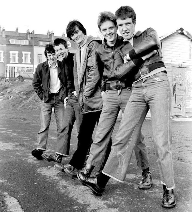 Happy 60th birthday to Feargal Sharkey. The Undertones by Larry Doherty, c.1979.