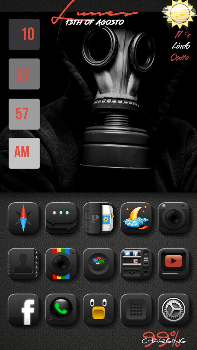 Expotando@ProfeJuANTONIO @MarthukML2   Thema Ext. #Black Ors by @A7laFe   Wall by @Loomy_Narti   Widget  #Az.Ls27/ Battery ER.1 by @e_rwinn   Tweaks #Boxy3 by @william_vab  #hidestatusbars by @JunesIphone  #XenHtml by @_Matchstic  #FloatingDoc #LPP by @JunesIphone<br>http://pic.twitter.com/qLKEhg6K6g