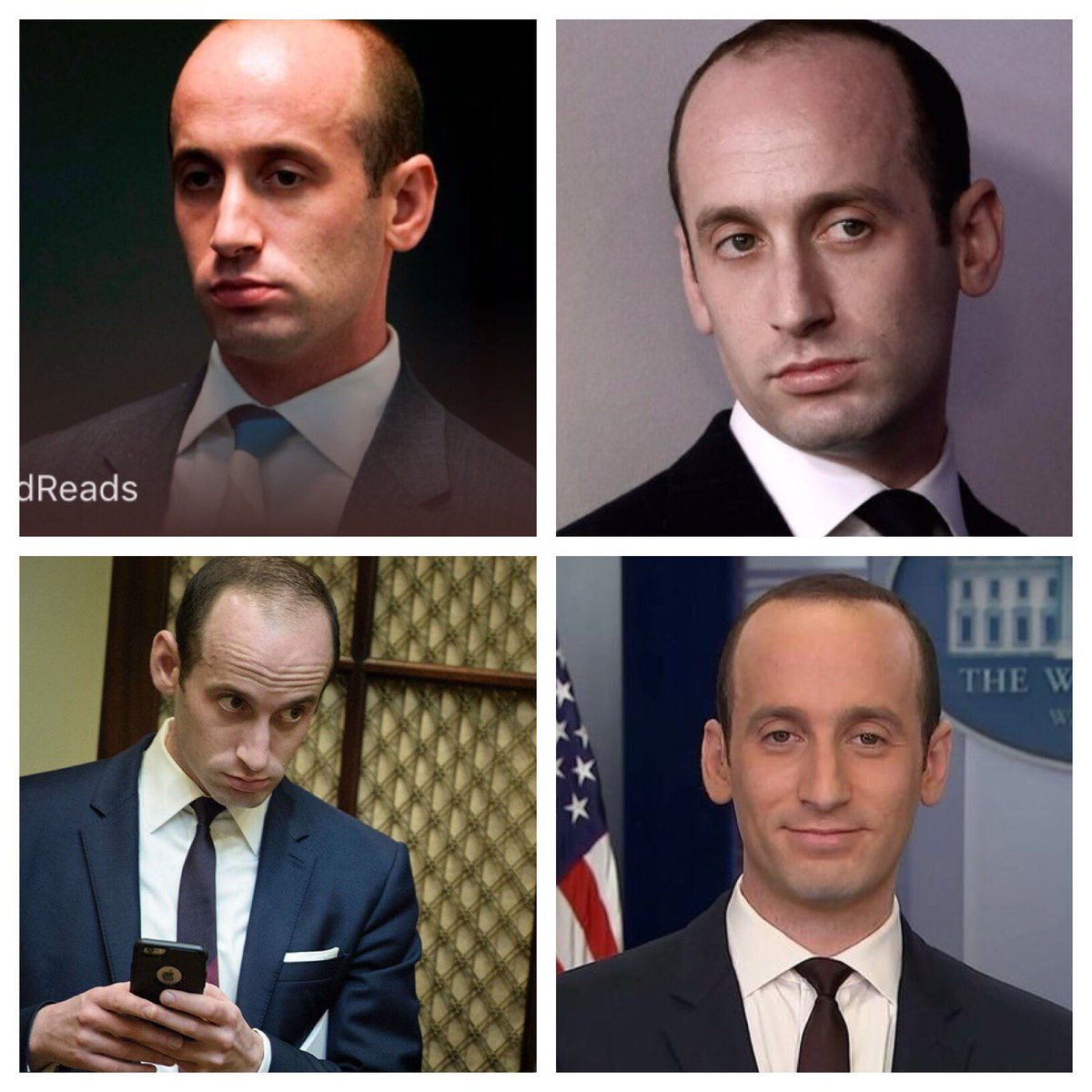 Every Stephen Miller picture looks like he just sucked a lizard into his mouth.