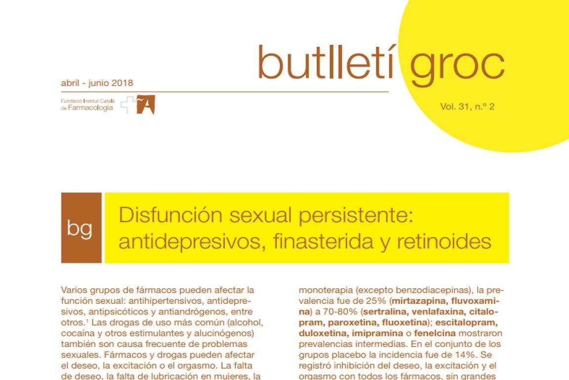 antidepresivos y disfunción sexual