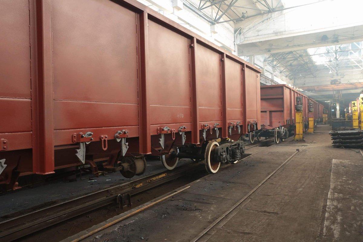 Крюківський вагонобудівний завод на збільшив виробництво вантажних вагонів на 82%