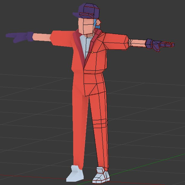 Heeeeeey! I&#39;m doing a new lowpoly character, can you guess what I was inspired by?  #lowpoly #pixelart<br>http://pic.twitter.com/0YJ8bealSQ