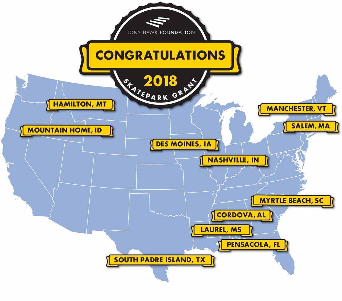 Skaters rejoice! #Laurel, MS is one of 11 Skatepark Grant recipients from the @THF . Unbelievable news for Laurel! #VisitMS  https:// bit.ly/2O5KNuU  &nbsp;   @joneschamberms  @tonyhawk<br>http://pic.twitter.com/emvsmsFTBt