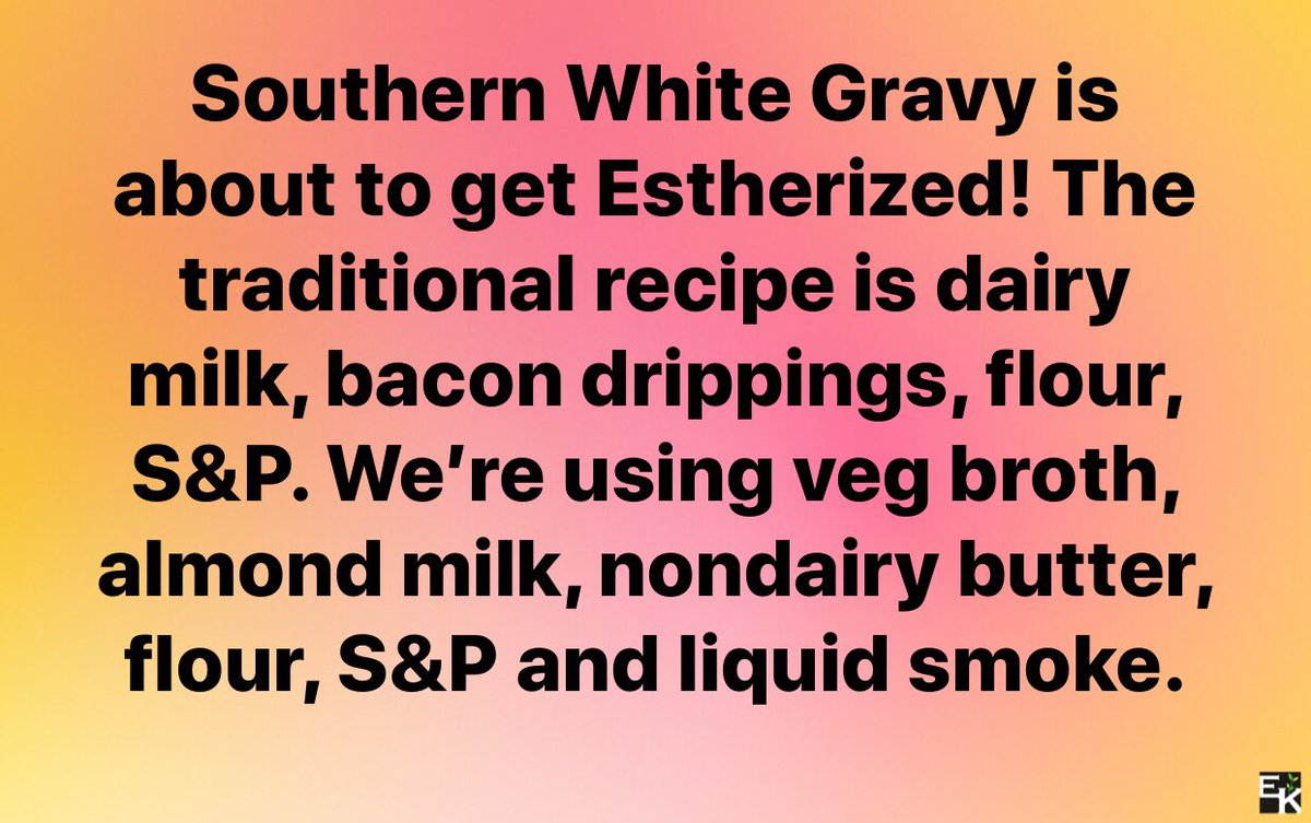 Pigs are our friends. We are so excited to premiere Country Fried Steak over Mashed Potatoes with White Gravy and a side of Corn on the cob today! #estherapproved #meatlessmonday <br>http://pic.twitter.com/mWRkDSgGUW