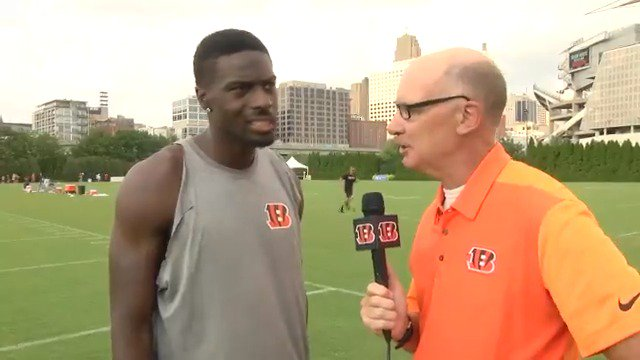 A.J. Green makes a guest appearance on today's Training Camp Report pres. by @medmutual. #SeizeTheDEY https://t.co/68Zvv6tjPF