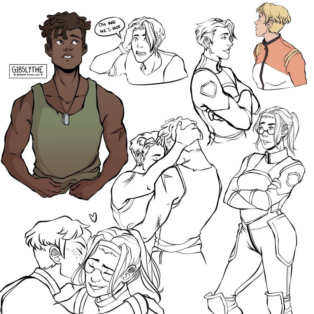 Everyone on the Earth Squad is hot? A Sketch Page by me #art #vld #voltron<br>http://pic.twitter.com/zI5DcTWSLF