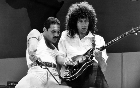 Freddie Mercury and Brian May  Anyone excited for the upcoming Queen biopic? #FreddieMercury #BrianMay #Queen<br>http://pic.twitter.com/Ao8H4mHvnF