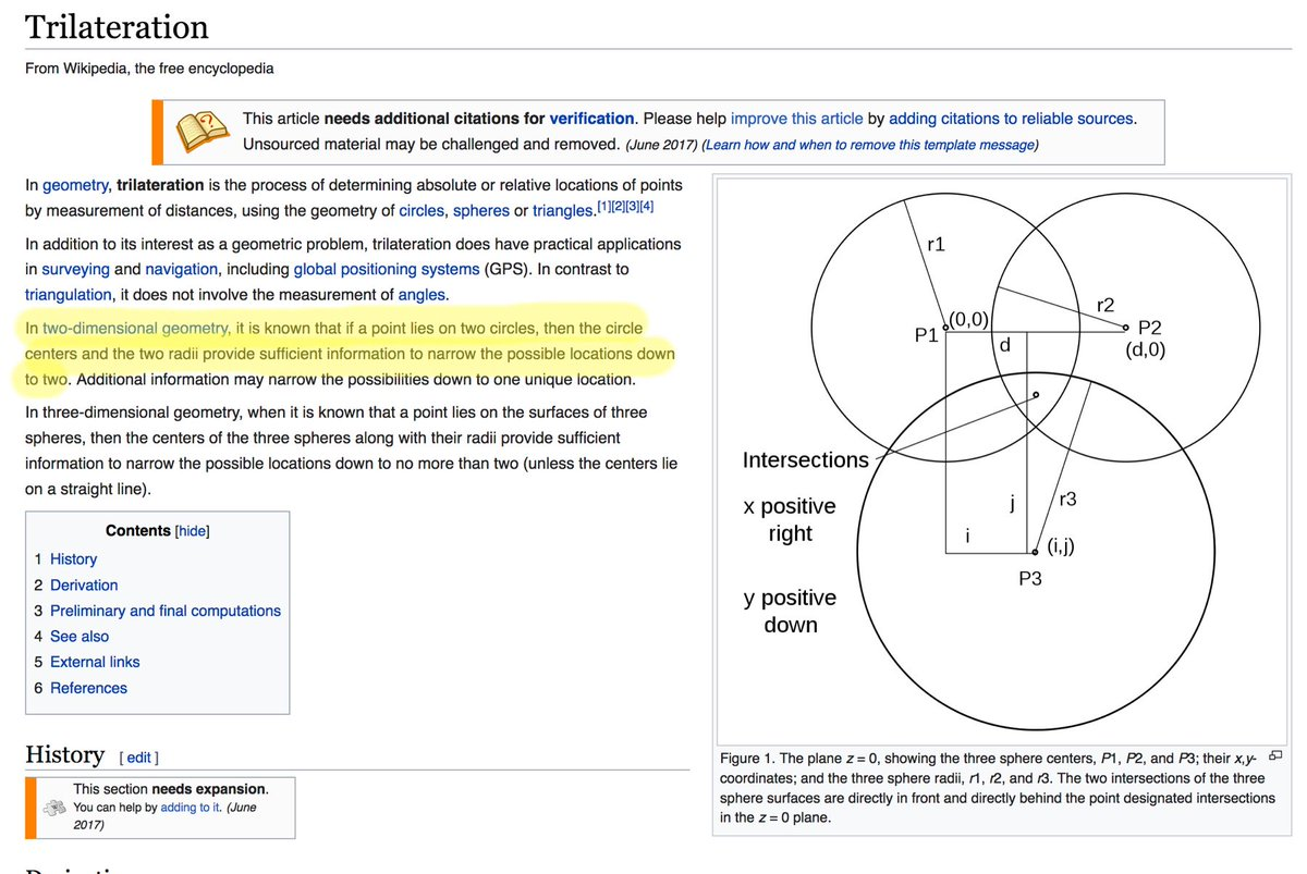 trilateration hashtag on Twitter
