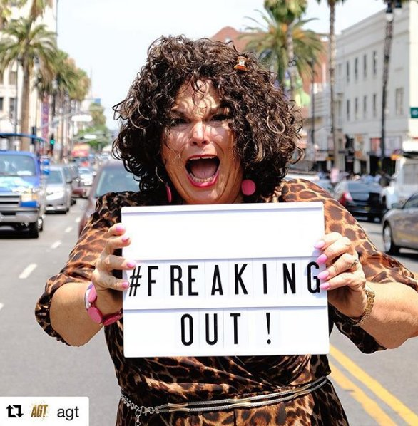VOTING starts Tuesday and I'm FREAKING OUT!! All of the love and support from my friends, family, and fans are keeping me going! #RetweeetPlease. There&#39;s no containing @vickibarbolak&#39;s #trophywife chill preparing for lives. #AGT<br>http://pic.twitter.com/Am0kxJdJch