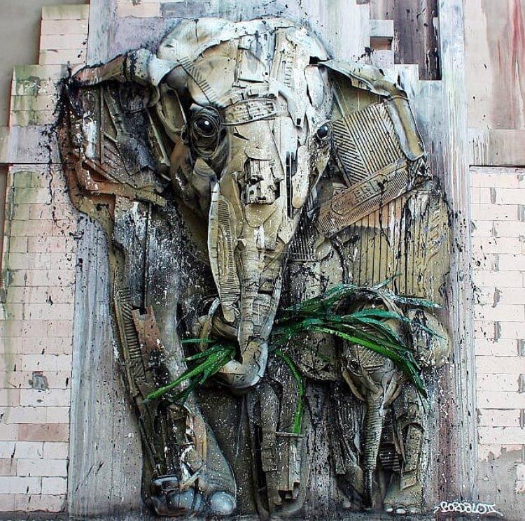Bordalo II in Thailand #streetart <br>http://pic.twitter.com/56DDWcQjGM