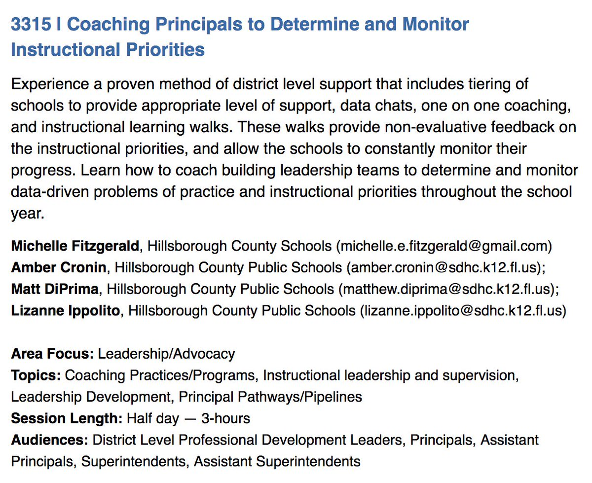 Come to the 2018 @LearningForward Annual Conference and hear from principals supervisor in Hillsborough County, FL, participants in  Principal Supervisor Initiative Conference info:  http:// conference.learningforward.org  &nbsp;    Vanderbilt - Mathematica Policy study:  http:// ow.ly/wv0430lo6Fz  &nbsp;  <br>http://pic.twitter.com/DQm5GkJN6P