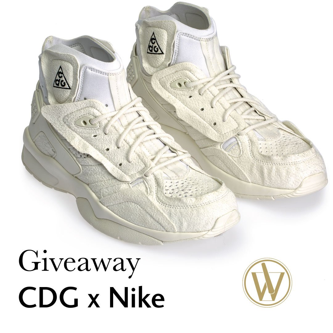 sports shoes 104a5 4d180 ... of the exclusive COMME des GARÇONS x Nike ACG Mowabb sneakers. Details  on Instagram. ⭢ Enter giveaway  http   www.instagram.com wantapothecary ...