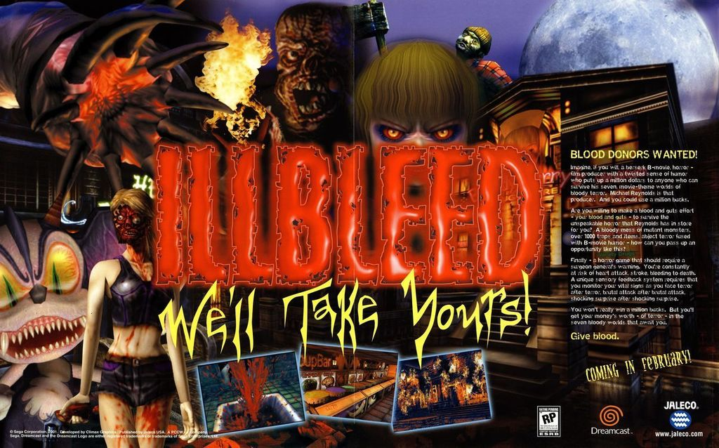 An advert for 'Illbleed' on the Sega Dreamcast.  https:// ift.tt/2vFJHio  &nbsp;  <br>http://pic.twitter.com/RaMBaN1980
