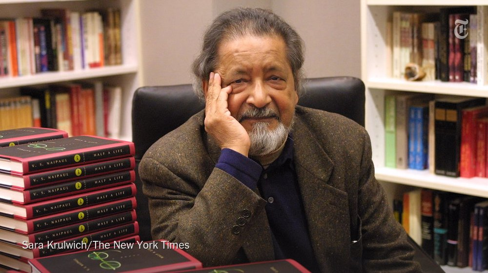 V.S. Naipaul, who delved into colonialism through unsparing books, has died at 85 nyti.ms/2KLCEK2